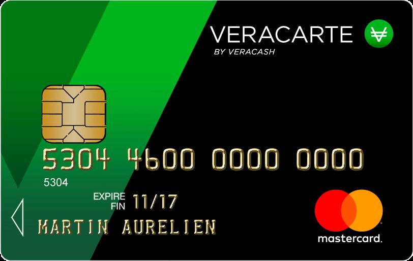 Carte de paiement VeraCarte Mastercard