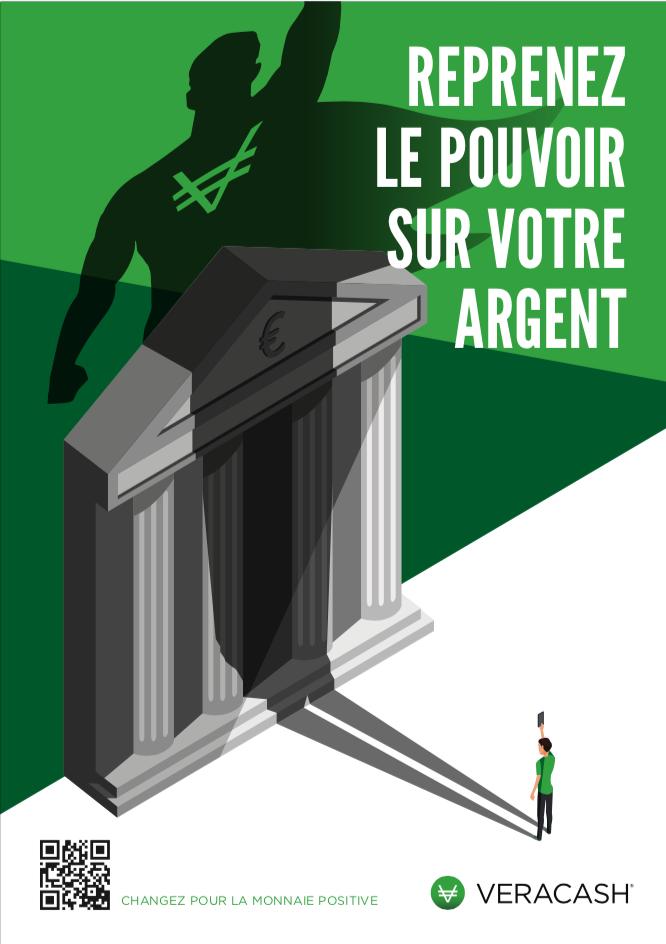 Affiche anti-banque VeraCash