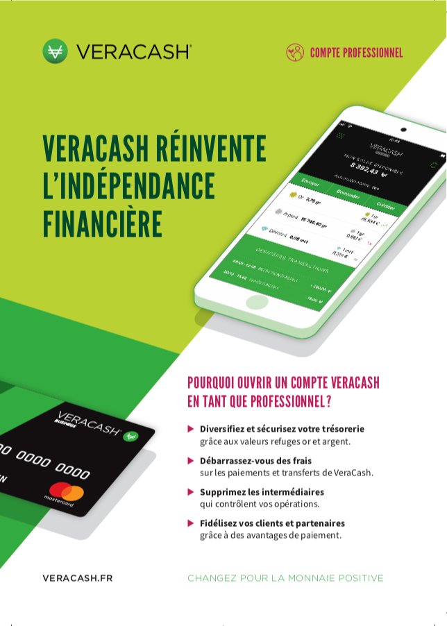 Flyer comptes professionnels VeraCash