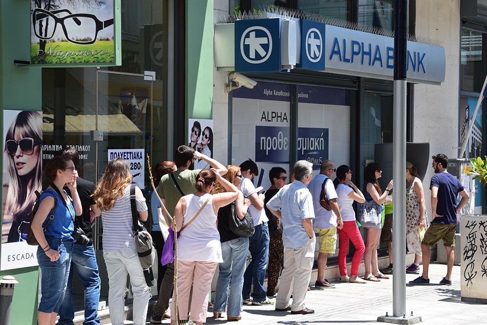 Grèce Bank Run