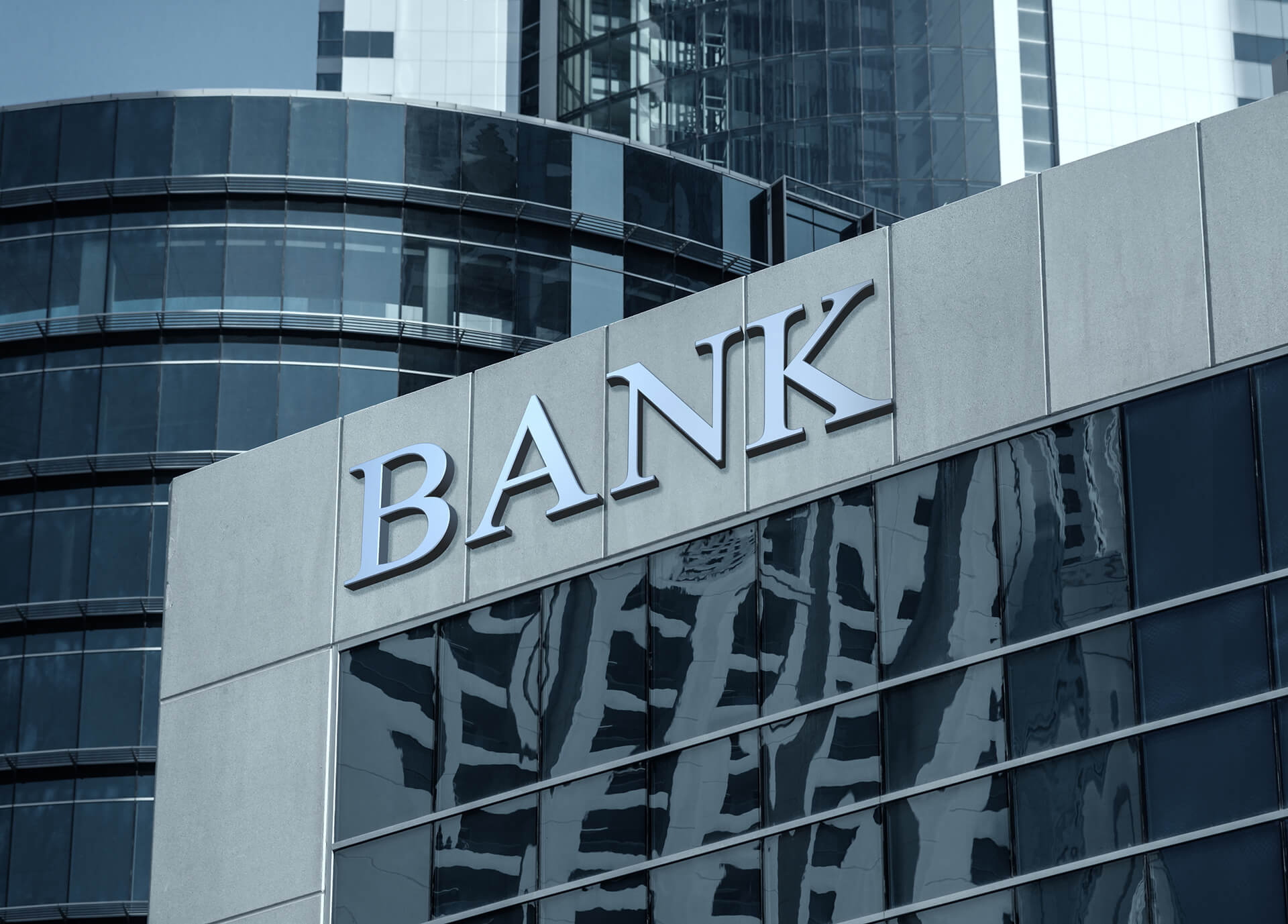 Devanture d'une banque américaine