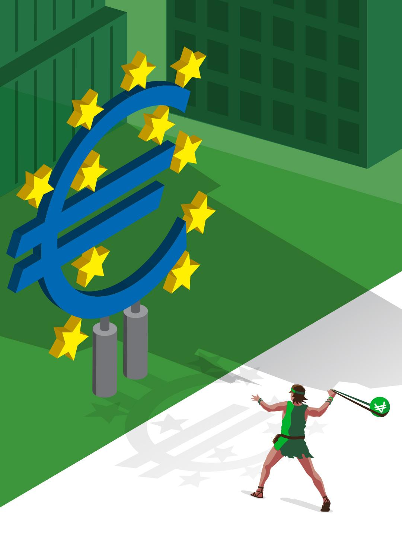 David face à la BCE