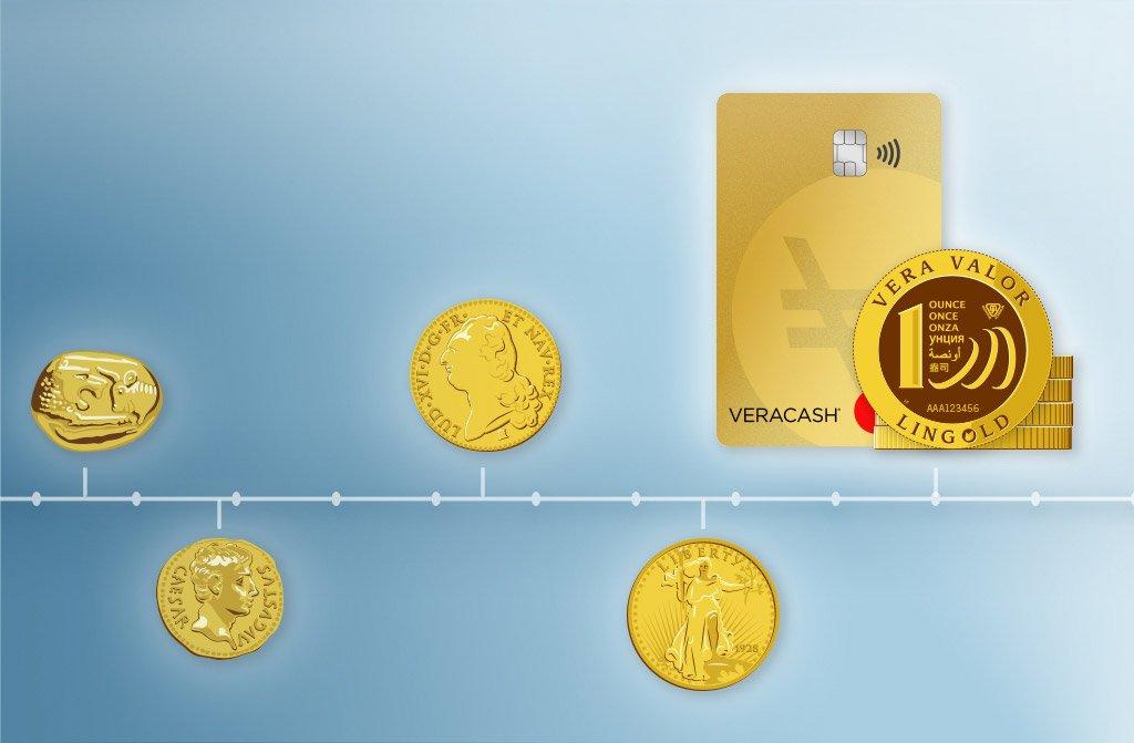 Evolution des paiements en or de Crésus à VeraCash