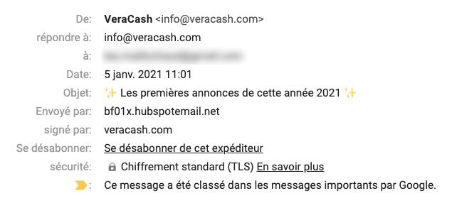 Email marketing VeraCash