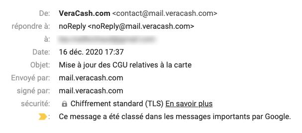 Email transactionnel VeraCash®