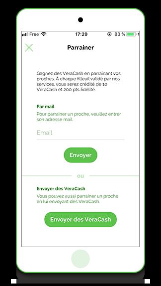Application VeraCash parrainage